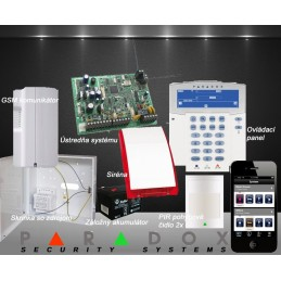 Paradox bezdrôtový EZS 2+GSM PCS250