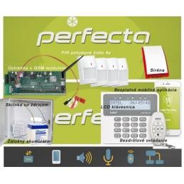 SATEL PERFECTA 4  / bezdrôtový EZS+GSM+klúčenka