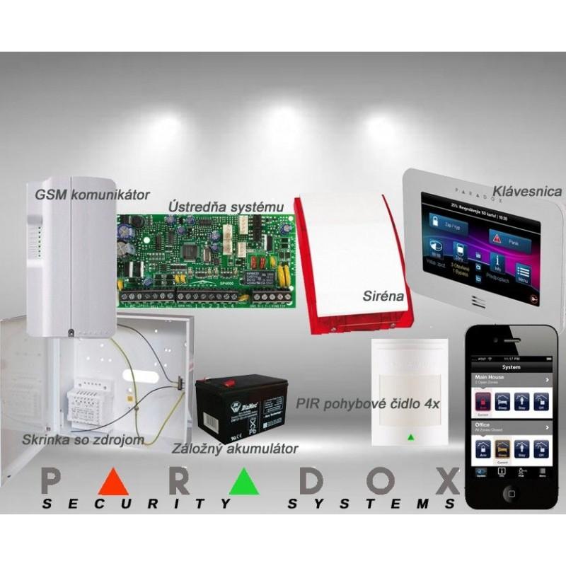 Paradox sada SP/4 TM50LCD+ GSM PCS250